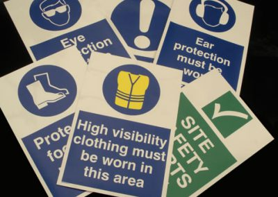 Stock Safety Signs