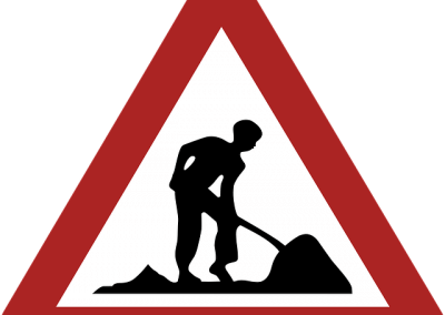 Construction warning triangle