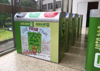 customised re-cycle bins by Creative Solutions