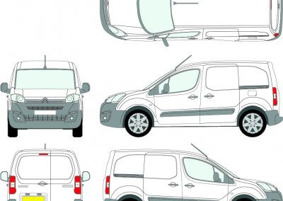 small-van-graphic-layout